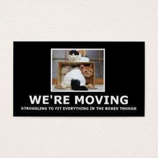Cartão De Visitas Mover-se da casa engraçada