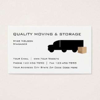 Cartão De Visitas Mover-se e armazenamento
