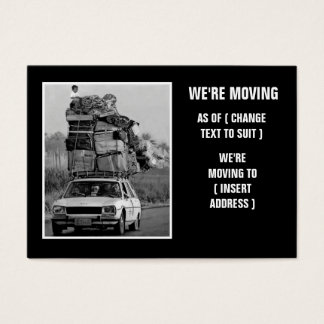 Cartão De Visitas Movimento da casa