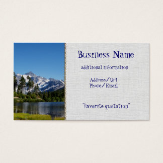 Cartão De Visitas Mt Shuksan do lago picture