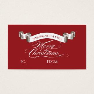 Cartão De Visitas Muito etiqueta do Feliz Natal - Tag do presente de