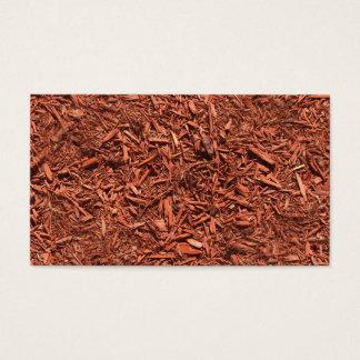 Cartão De Visitas mulch detalhado do cedro vermelho para o