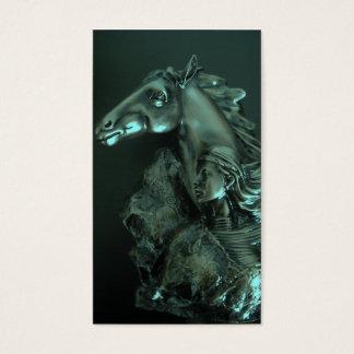 Cartão De Visitas mulher do cavalo