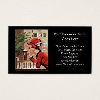 Cartão De Visitas Mulher italiana do chocolate de Squisito