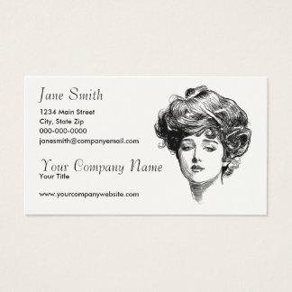 Cartão De Visitas Mulheres do Victorian