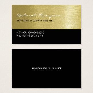 Cartão De Visitas mulheres profissionais do fundo do ouro do falso