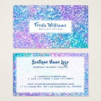 Cartão De Visitas Multi brilho & Sparkles modernos do falso da cor
