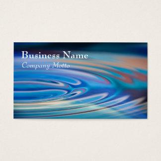 Cartão De Visitas Multicolorido genérico de turquesa das ondinhas da