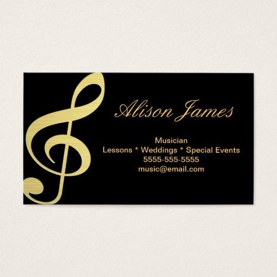 Cartão De Visitas Musician
