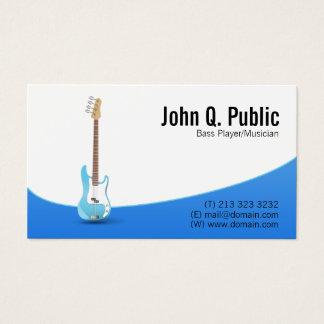 Cartão De Visitas Músico do guitarrista do baixista