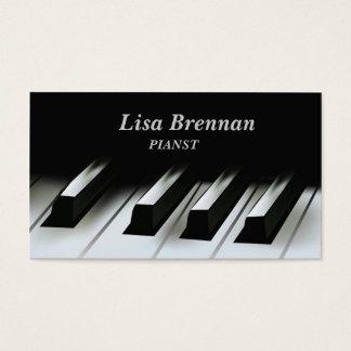 Cartão De Visitas Músico do pianista, escola do professor do jogador
