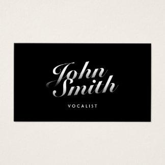 Cartão De Visitas Na moda do vocalista caligráfico
