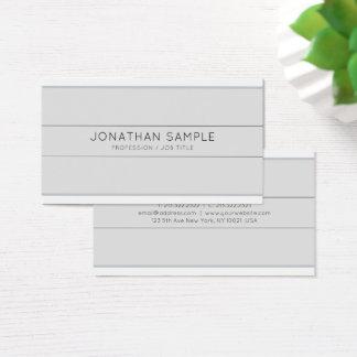 Cartão De Visitas Na moda liso cinzento do design criativo