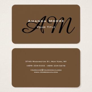 Cartão De Visitas Na moda minimalista moderno do monograma corajoso