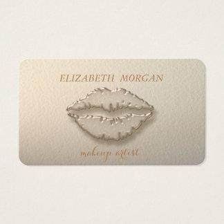 Cartão De Visitas Na moda moderno, maquilhador, lábios