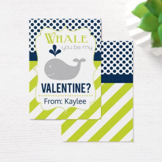Cartão De Visitas Namorados verdes da baleia