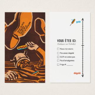 Cartão De Visitas Não descontraídos coxeia humor Quebeque