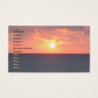 Cartão De Visitas Nascer do sol de Florida