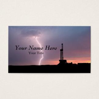 Cartão De Visitas Nascer do sol do roxo do relâmpago do campo