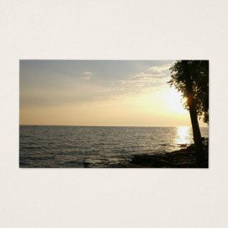 Cartão De Visitas Nascer do sol sobre o Lago Erie