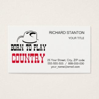 Cartão De Visitas Nascer para jogar o país