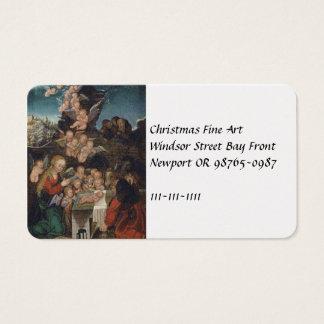 Cartão De Visitas Natividade que caracteriza querubins