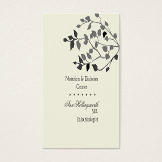 Cartão De Visitas Natureza médica da saúde do bem estar elegante