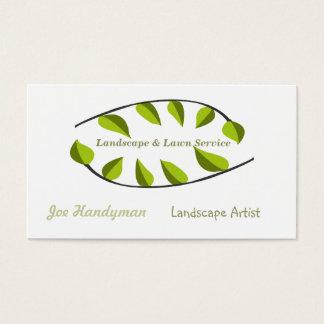 Cartão De Visitas Natureza que ajardina círculos verdes