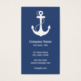 Cartão De Visitas Náutico do azul marinho e o branco