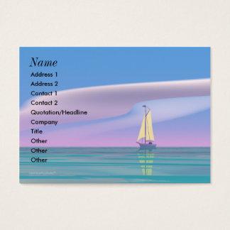 Cartão De Visitas Navegando o azul - carnudo