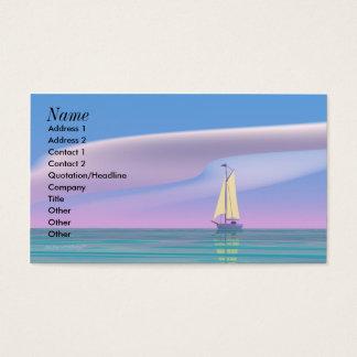 Cartão De Visitas Navegando o azul - tamanho do negócio