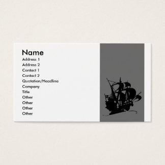 Cartão De Visitas Navio de pirata