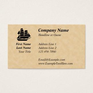 Cartão De Visitas Navio de pirata. Navio de navigação
