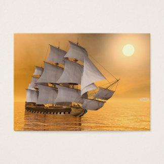 Cartão De Visitas Navio mercante velho - 3D rendem
