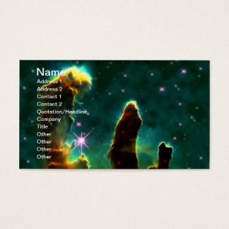 Cartão De Visitas Nebulosa de M16 Eagle ou colunas da criação
