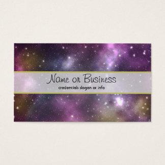 Cartão De Visitas Nebulosa e estrelas legal coloridas no espaço