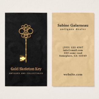 Cartão De Visitas Negociante de antiguidades da chave de esqueleto