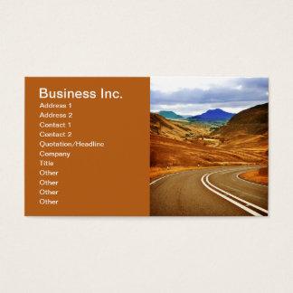 Cartão De Visitas Negócio Brown do viagem da estrada e do sonho das
