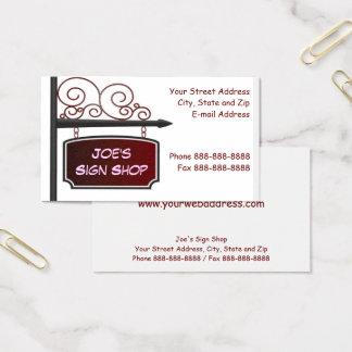 Cartão De Visitas Negócio C da parte dianteira da loja do mediador