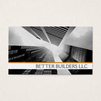 Cartão De Visitas Negócio Ca dos construtores do mediador
