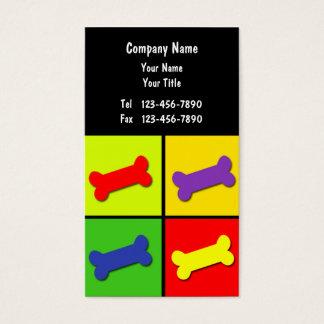 Cartão De Visitas Negócio Card_10 dos cuidados dos animais de