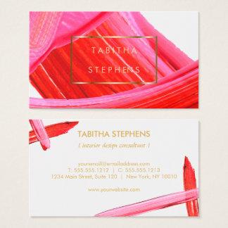 Cartão De Visitas Negócio cor-de-rosa coral do desenhista dos