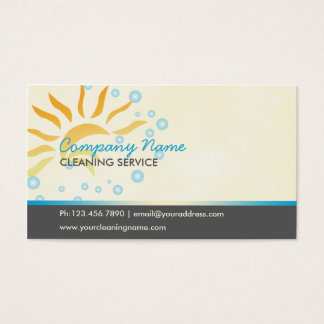 Cartão De Visitas negócio da limpeza da casa