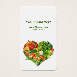 Cartão De Visitas Negócio do coração das frutas e legumes