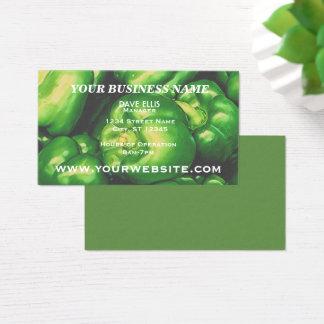 Cartão De Visitas Negócio do produto de fazenda da pimenta verde