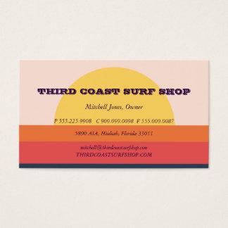 Cartão De Visitas Negócio do profissional da loja do surf do por do