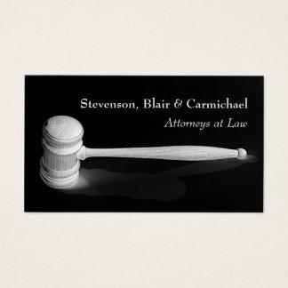 Cartão De Visitas Negócio elegante do advogado do juiz do Gavel de
