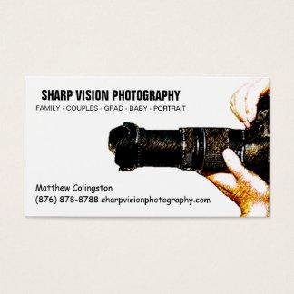 Cartão De Visitas Negócio masculino da foto do fotógrafo simples