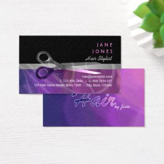 Cartão De Visitas Negócio na moda dos cabeleireiros