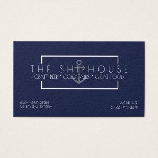 Cartão De Visitas Negócio náutico do bar do restaurante dos azuis